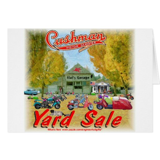 Cushman Yard Sale Greeting Card