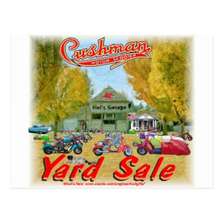 Cushman Yard Sale Postcard