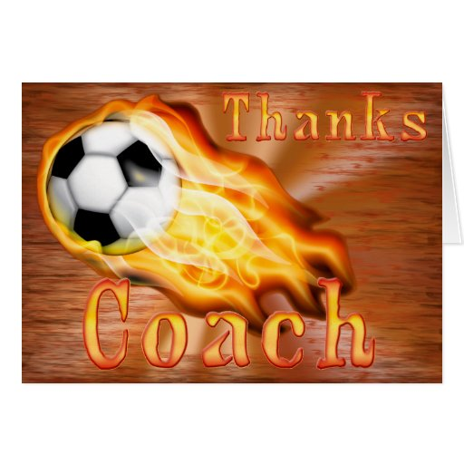 Cusomizable Cool Flaming Soccer Thank You Cards