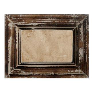 Cusomizable Rustic Frame Postcard