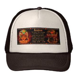 Cusp of Aries Taurus zodiac astrology Valxart.com Mesh Hat