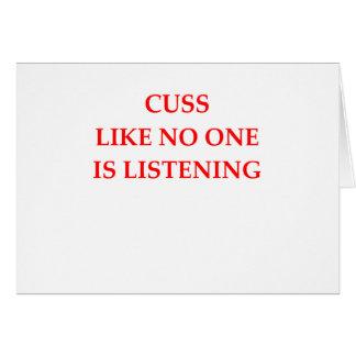 CUSS CARD