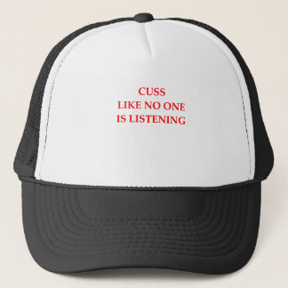 CUSS TRUCKER HAT