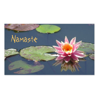 CUST.BUS.CARD/PINK LOTUS BLOSSOM & REFLECTION PACK OF STANDARD BUSINESS CARDS