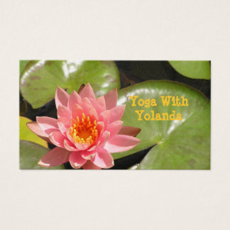 "CUST.BUS.CARD, ""SALMON-PINK LOTUS BLOSSOM AND BRIG BUSINESS CARD"