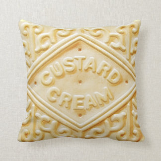 custard cream retro biscuit cookie cushion pillow