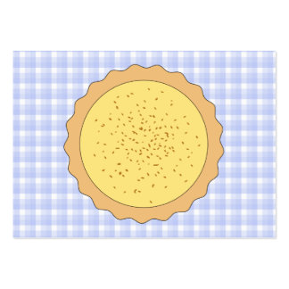 Custard Pie. Yellow Tart, with Blue Gingham. Pack Of Chubby Business Cards