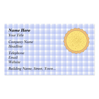 Custard Tart Pie. Double-Sided Standard Business Cards (Pack Of 100)