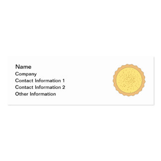 Custard Tart Pie. Double-Sided Mini Business Cards (Pack Of 20)