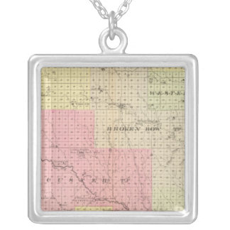 Custer and Logan County, Nebraska Silver Plated Necklace
