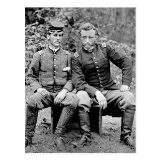 Custer & Prisoner, 1862 Postcard