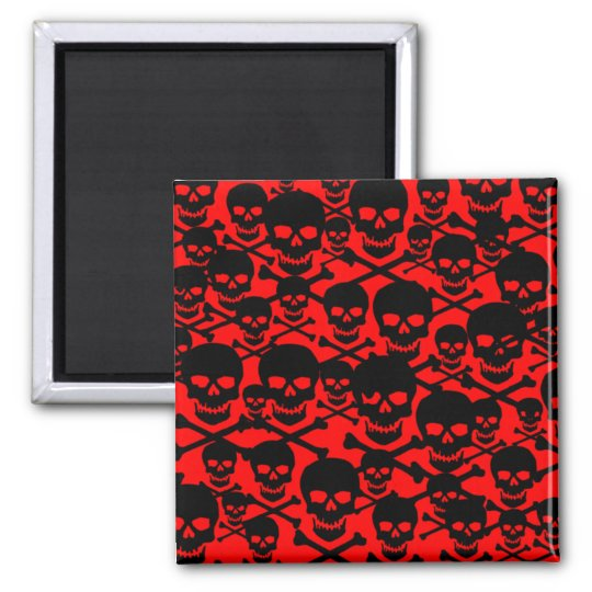 Custimizable Skulls & Crossbones Magnet