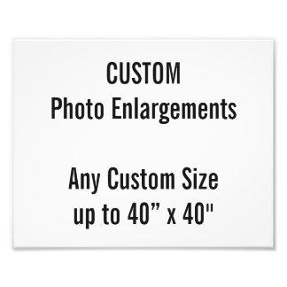 "Custom 10""x8"" Photo Enlargement up to 40""x40"""