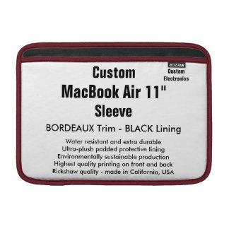 """Custom 11"""" MacBook Air Sleeve (H) Bordeaux & Black"""