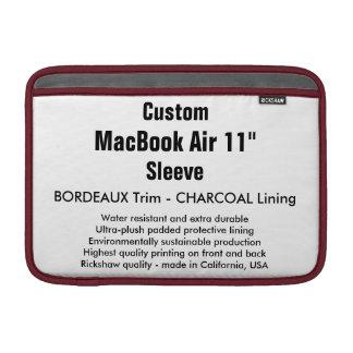 "Custom 11"" MacBook Air Sleeve (H) Bordeaux & Gray"