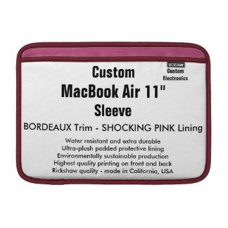 """Custom 11"""" MacBook Air Sleeve (H) Bordeaux & Pink"""