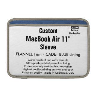 """Custom 11"""" MacBook Air Sleeve (H) Flannel & Blue"""