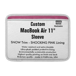 """Custom 11"""" MacBook Air Sleeve (H) Snow & Pink"""