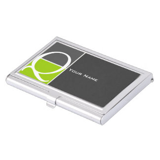 Custom 127 Monogram Business Card Holders