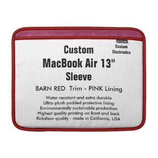 """Custom 13"""" MacBook Air Sleeve (H) Barn Red & Pink"""