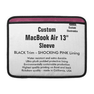 """Custom 13"""" MacBook Air Sleeve (H) Black & Pink"""