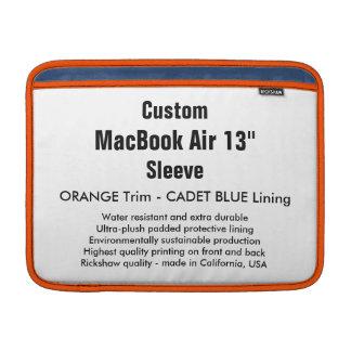 """Custom 13"""" MacBook Air Sleeve (H) Orange & Blue"""