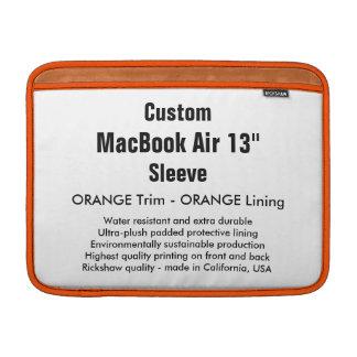 """Custom 13"""" MacBook Air Sleeve (H) Orange & Orange"""