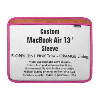 """Custom 13"""" MacBook Air Sleeve (H) Pink & Orange"""