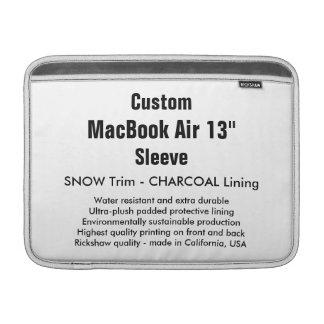"Custom 13"" MacBook Air Sleeve (H) Snow & Charcoal"