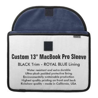 "Custom 13"" MacBook Pro Sleeve - Black & Royal Blue"