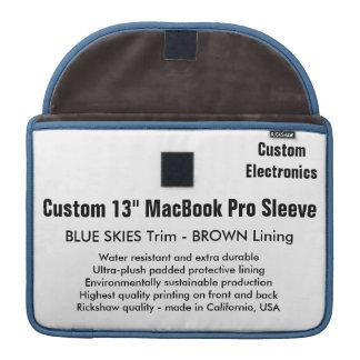 """Custom 13"""" MacBook Pro Sleeve- Blue Skies & Brown Sleeves For MacBooks"""