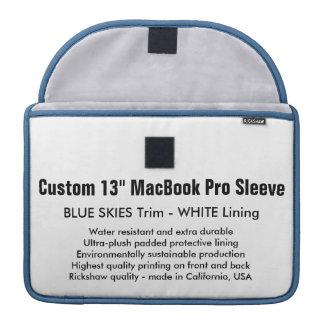 "Custom 13"" MacBook Pro Sleeve- Blue Skies & White Sleeve For MacBooks"
