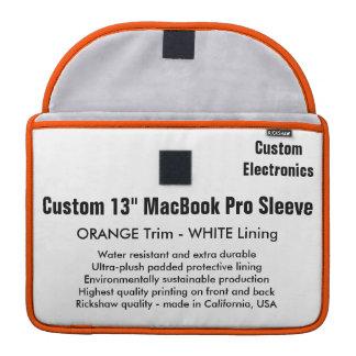 "Custom 13"" MacBook Pro Sleeve - Orange & White"