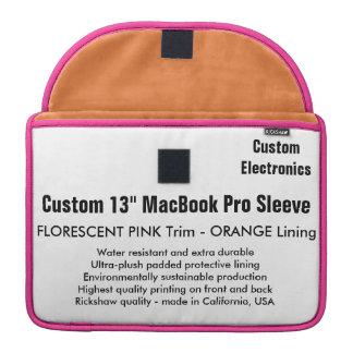 "Custom 13"" MacBook Pro Sleeve - Pink & Orange"