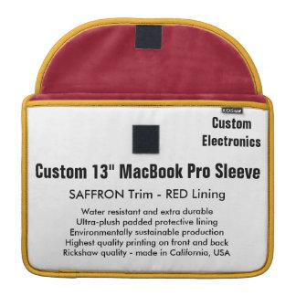 "Custom 13"" MacBook Pro Sleeve - Saffron & Red"