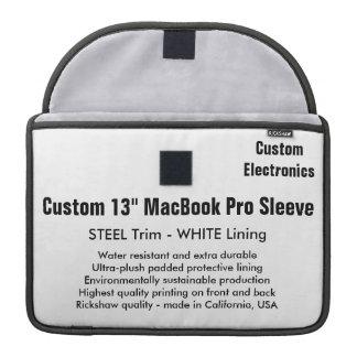 "Custom 13"" MacBook Pro Sleeve - Steel & White"