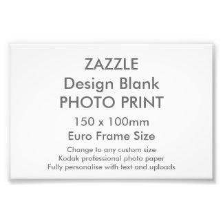 Custom 150 x 100 mm Photo Print UK Frame Size