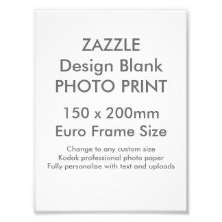 Custom 150 x 200 mm Photo Print UK Frame Size