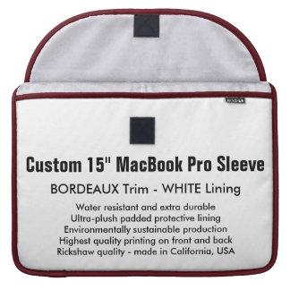 "Custom 15"" MacBook Pro Sleeve - Bordeaux & White"