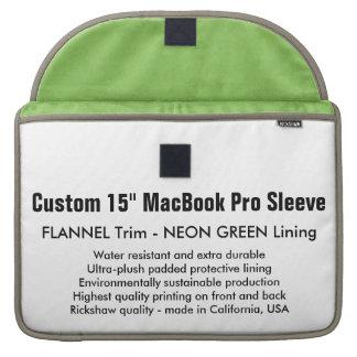 "Custom 15"" MacBook Pro Sleeve - Flannel & Green"