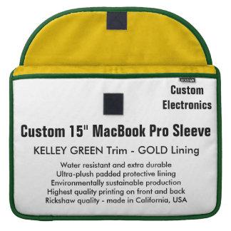 "Custom 15"" MacBook Pro Sleeve - Green & Gold"