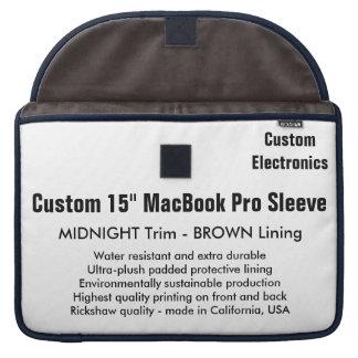 "Custom 15"" MacBook Pro Sleeve - Midnight & Brown"