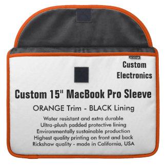 "Custom 15"" MacBook Pro Sleeve - Orange & Black"