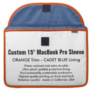 "Custom 15"" MacBook Pro Sleeve - Orange & Blue"
