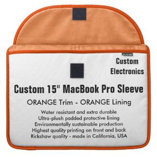 "Custom 15"" MacBook Pro Sleeve - Orange & Orange"