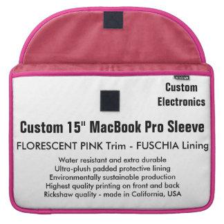 "Custom 15"" MacBook Pro Sleeve - Pink & Fuschia"