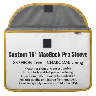 "Custom 15"" MacBook Pro Sleeve - Saffron & Charcoal"