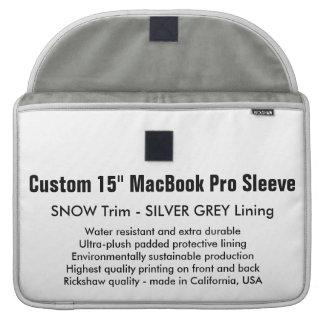 "Custom 15"" MacBook Pro Sleeve - Snow & Silver"