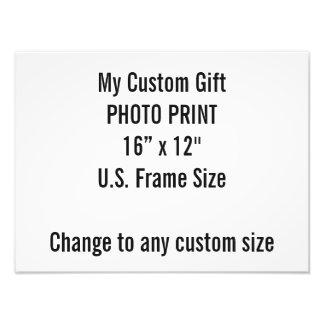"Custom 16"" × 12"" Photo Print  US Frame Size"