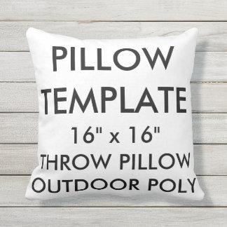 "Custom 16""x16"" Outdoor Throw Pillow Blank Template"